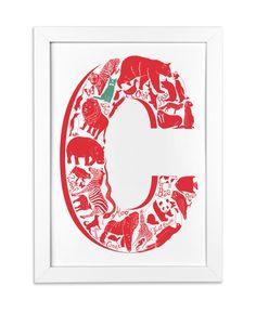 Letter C for a kids room http://www.lucylovesthis.com/ourshop/prod_2690877-Animal-Alphabet-Letter.html