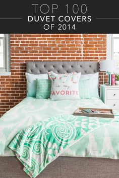 It's easy to transform your bedroom into an incredibly stylish space with one of 2014's top 100 duvet covers! Lots of watercolor prints, tribal patterns, and bright colors made the list!