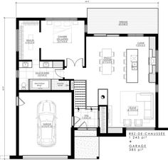 Our modern house plan is sold directly online and is already … - Home & DIY 4 Bedroom House Designs, House Furniture Design, Dream House Plans, Small House Plans, Architect House, Architect Design, Beautiful Houses Pics, The Plan, How To Plan