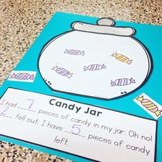 This fun subtraction craft is a forever FREEBIE!