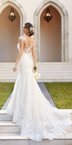 Stella York Tulle Over Organza Fit and Flare Wedding Dress style 6269 a