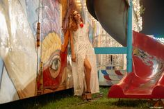Heading to a Pennsylvanian country fair, photographer Adrian Nina captures model Lyoka Tyagenereva in romantic and colorful outfits perfect for the vibrant setting. Designer Diego Binetti showcases looks from his latest collection on the brunette paired with sunglasses and accessories from A-Morir. From an ethereal white dress to a not so casual bomber jacket, the …