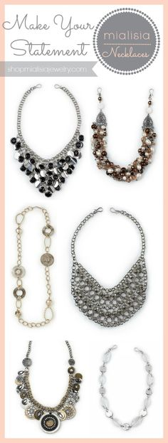 Mialisia Jewelry Statement Necklaces Visit my website http://dianeroles.mialisia.com mialisia.sparkles@yahoo.com
