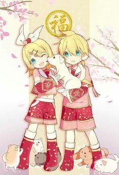 Kagamine Twins Chinese New Year 2018