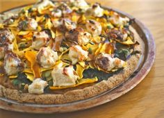 Caramelized Onion, Shaved Butternut and Goat Cheese Pizza - Best Vegan Pizza Recipes