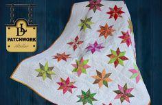 Patchwork Quilt Bali Pops - Rapid Fire - Lemoyne Star