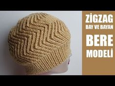 Zigzag Beanie Preparation - Nuran Aytac - - Zikzak Bere Yapılışı You can use it for men and women. Very elegant model. Turkish is a video narrative model. You can find all the details in the video. Baby Hats Knitting, Crochet Baby Hats, Knitting Stitches, Knitted Hats, Crochet Cap, Sunflower Tattoo Design, Head Wraps, Knitting Patterns, Beanie