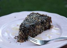 Recept s fotopostupom na vynikajúci zdravý jablkovo - makový koláčik bez múky a s minimom cukru.