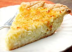 Homemade Coconut Custard Pie A delicious pie with the perfect balance of creamy custard and coconut.