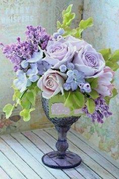 Pastel Flowers, Clay Flowers, Sugar Flowers, Silk Flowers, Beautiful Flowers, Beautiful Flower Arrangements, Floral Arrangements, Flower Centerpieces, Flower Decorations