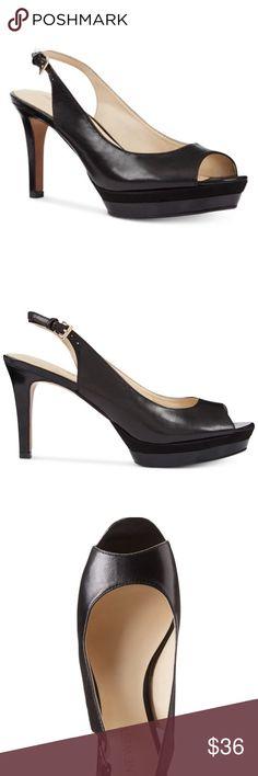 Pin up Leather Slingback High Heel Pumps Stylish heels/pumps and comfortable. 3 1/2 inch heel, 1/2 inch platform Nine West Shoes Heels