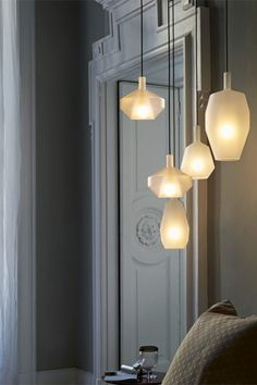Penta MoM Family Pendant Light - MoM Family ceiling light collection, designed by Umberto Asnago for Penta. MoM is a collection made in borosilicate glass. Worldwide shipping available. Furniture Design Modern, Cool Lighting, Lamp, Ceiling Lights, Pendant Lamp, Wall Lamp, Pendant Light, Light, Luxury Lighting