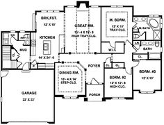 26 Best Home designs images | House floor plans, Design floor plans Eplans House Plans Floor Hwepl on