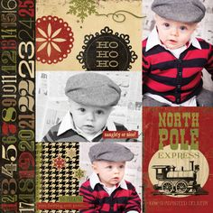 25 Days of Christmas: Sample - 800 Scrapbooking Layouts, Scrapbook Pages, Christmas Scrapbook, Christmas Layout, 25 Days Of Christmas, Christmas Ideas, Multi Picture, Simple Stories, Paper Crafts
