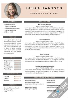 Creative cv template. Fully editable in Word and PowerPoint. Curriculum Vitae, resume.  2 color versions in 1 + 2nd page template + matching cover letter templates: https://gosumo-cvtemplate.com/all-cv-templates/