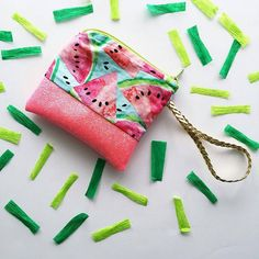 "INSTAGRAM: @DottieAnnDesigns  SHOP: http://ift.tt/2afg53O   This Watermelon Sparkle wristlet is 5"" x 4.5"" the perfect size for your little one to carry all of her treasures!   #handmade #handmadewithlove#bestofhandmade #etsygram #etsygramlove #radianthandmade #BuyDifferently #calledtobecreative#craftsposure #crafttherainbow#creativelifehappylife #creativityfound#etsy #favehandmade #handcrafted#handmadegifts #handmadewithlove#HandsAndHustle #homeinthestudio#madebyhand…"