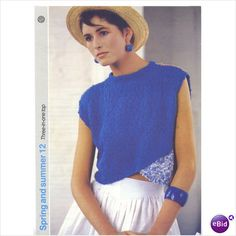 Summer jumper top pattern cotton & wool yarn Argyll knitting patterns 12 on eBid United Kingdom