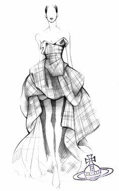 裳收集绿松石丝绸Tafetta麦克安德鲁格子呢马甲上衣和裙Vivienne Westwood的预订莫达手法
