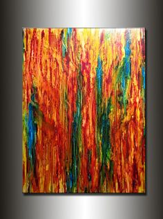 Abstract Painting  ORIGINAL Contemporary by newwaveartgallery, $2000.00