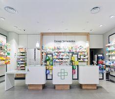 Farmacia Amodio - taller de farmacias. Diseño , proyectos y reformas de farmacias en Galicia, A Coruña, Pontevedra, Lugo, Orense. Clothing Store Displays, Mobile Shop, Modern Shop, Commercial, Retail Interior, Autocad, Retail Design, Pharmacy, Decoration