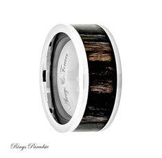9mm Titanium Ring Men's Titanium Wedding Band by RingsParadise