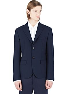 MARNI Marni Men'S Tailored Blazer Jacket From Aw15 In Navy. #marni #cloth #