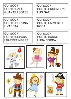 Idees per a Carnaval Catalan Language, Pirate Activities, File Folder Games, Visual Learning, English Activities, Grammar And Vocabulary, Math Numbers, School Resources, Rubrics