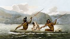 Ohlone Indians in a tule boat in the San Francisco Bay, 1822. Image by: Louis Choris via Wikimedia.