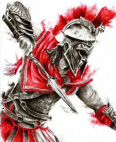 Warrior Logo, Spartan Warrior, Warrior Tattoos, Girl Drawing Sketches, Drawings, Assassins Creed Tattoo, Gladiator Tattoo, Helmet Drawing, Spartan Tattoo