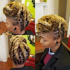 Natural Hair done Right Natural Hair Salons, Natural Hair Styles, Dreadlock Hairstyles, Crowns, Dreadlocks, Fresh, Female, Beauty, Dread Hairstyles