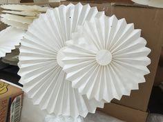 Paper decorations Paper Decorations, Table Lamp, Home Appliances, Home Decor, House Appliances, Homemade Home Decor, Paper Ornaments, Table Lamps, Appliances