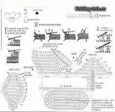 Rooster Container Crochet Diagram