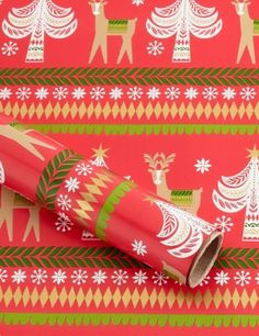Red Christmas Tree Christmas Wrapping Paper - Marks & Spencer