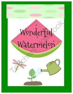 Watermelon packet that includes math, writing, and handwriting activities. Bonus small group game.