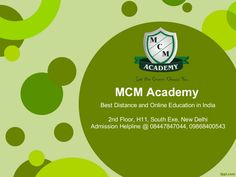 Best distance education in india-MCM academy delhi by MCM Academy via slideshare