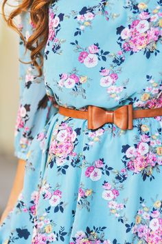 florals and bow belt