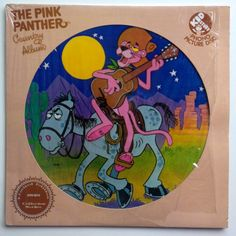The Pink Panther Country Album Picture Disc LP Vinyl Record Album, Kid Stuff Records - KPD 6010, Children's, Story, 1982, Original Pressing