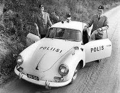 Porsche 356, police car fin
