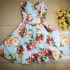 Rochie clos bleo cu imprimeu floral 3D