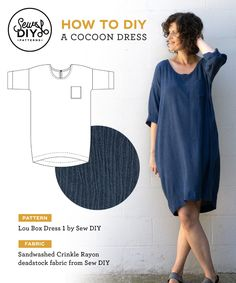 Diy Clothing, Sewing Clothes, Clothing Patterns, Dress Patterns, Sewing Shirts, Linen Dress Pattern, Easy Dress Pattern, Shift Dress Pattern, Cocoon Dress