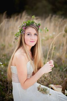 pretty light and wild floral crown / hair flowers/ boho chic bridesmaid  |  hilary cam photography