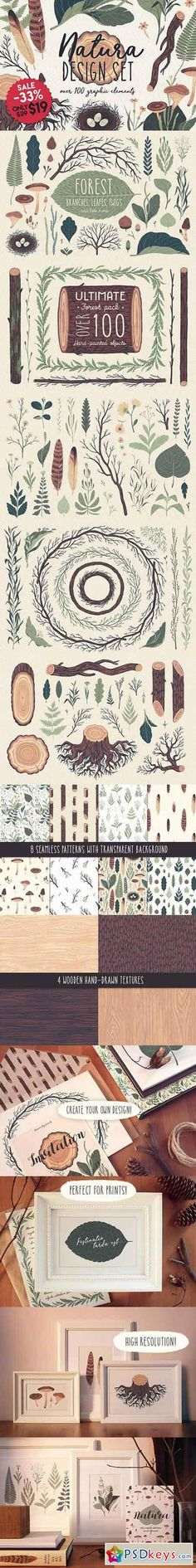 Natura graphic elements pack 1225668