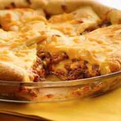 Cheeseburger Crescent Bake Pie