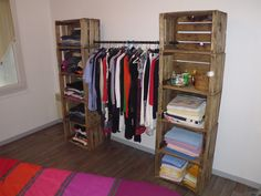 If you live in an aged residence or you're in a tight budget then maybe you don't have the extravagant built-in closet. However small your house may be, DIY fitted wardrobes can make it seem…Daha fazlası Diy Wardrobe, Wardrobe Design, Wardrobe Ideas, Diy Fitted Wardrobes, Closet Bedroom, Bedroom Decor, Room Organization, Pallet Furniture, Diy Home Decor