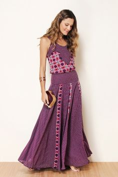 Beautiful bohemian maxi by Farm Rio.