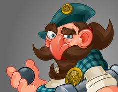 """Check out new work on my @Behance portfolio: """"Pirate with a gun"""" http://on.be.net/1IwS5g4"""