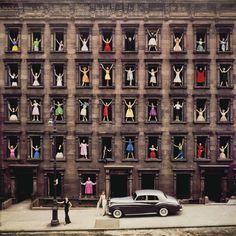 """Girls in the Windows"" by #OrmondGigli, New York city, 1960"