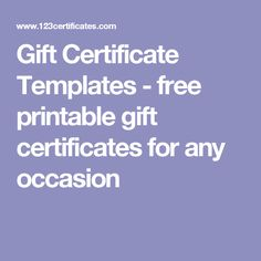 Personalized Gift Certificates Template Free Graduation Gift Certificate Templates  Free Printable100 .
