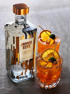 Beautiful Absolut Elyx cocktails #AbsolutElyx
