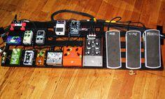 Jeff Tweedy's (Wilco) pedalboard